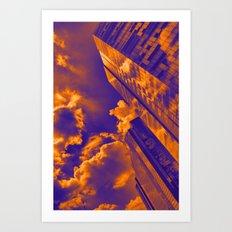 Paisaje de cielo y torres Art Print