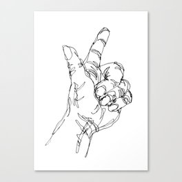 Ink doodle hand #3 Canvas Print