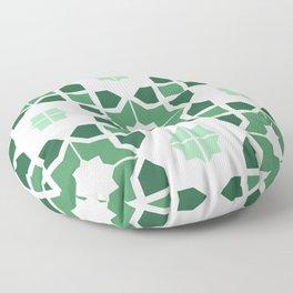 Morrocan tiles in green Floor Pillow