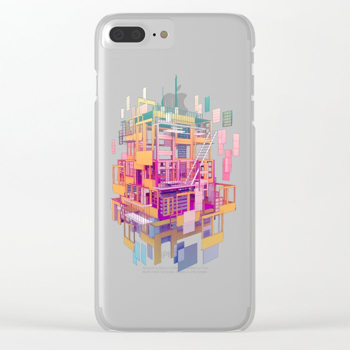 Building Clouds Clear iPhone Case