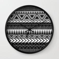 Tribal Monochrome. Wall Clock