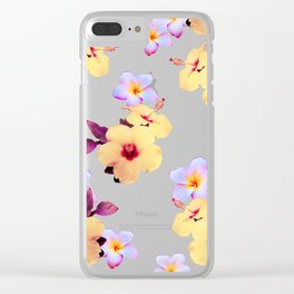 Hibiscus and Plumeria Clear iPhone Case