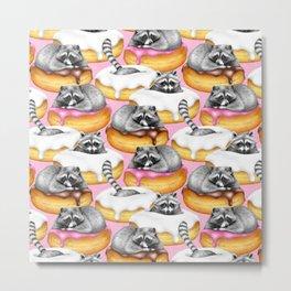 The Sweet Dreams of a Trash Panda  Metal Print