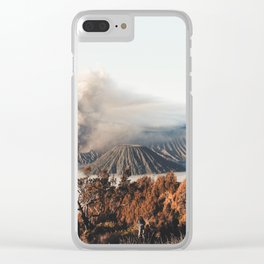 Volcano landscape Clear iPhone Case