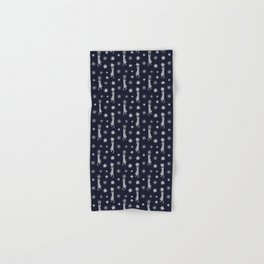 Cats Climbing Flowers Navy Blue Hand & Bath Towel