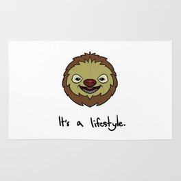 Sloth It's A Lifestyle Funny & Cute Rug