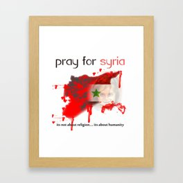 Pray for syria Framed Art Print