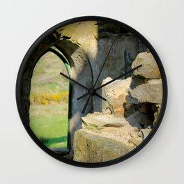 Tower Ruins Wall Clock