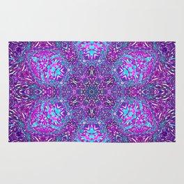 Pink, Purple, and Blue Mandala Rug