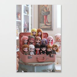 Doll Collection Canvas Print