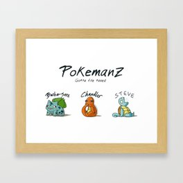 PoKeManZ Framed Art Print