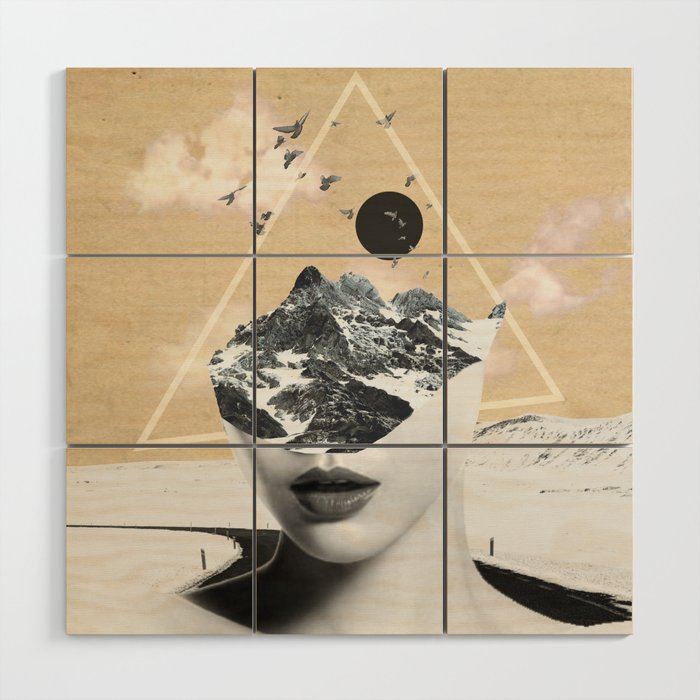 Collage Art Wild Nature Wood Wall Art By Dada22 Society6
