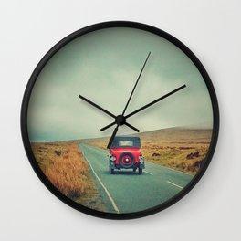 Vintage red car, Ireland Wall Clock