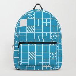 Inverted Boxes Blue Backpack