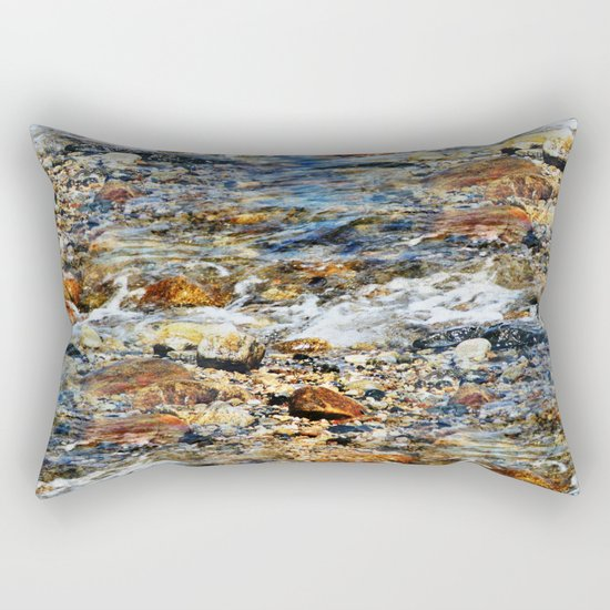 Peaceful Soothing Waters Rectangular Pillow