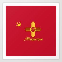 Flag of Albuquerque Art Print