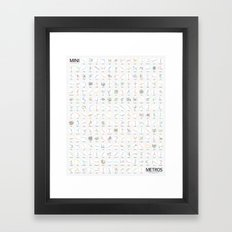 Mini Metros - Worldwide (Color) Framed Art Print