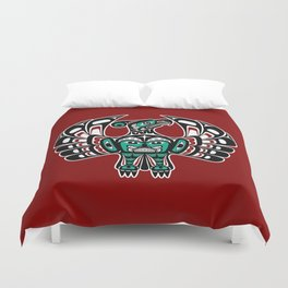 Northwest Pacific coast Haida art Thunderbird Duvet Cover