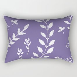 Ultra Violet Leaves Pattern #2 #drawing #decor #art #society6 Rectangular Pillow