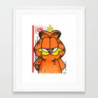 garfield Framed Art Prints featuring Garfield by TyRex Creations