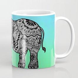 Elephant Lines on Watercolor Coffee Mug
