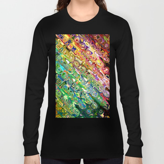 Colorful Glass Abstract Long Sleeve T-shirt