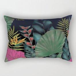 Funky Jungle, Exotic Leaves Rectangular Pillow