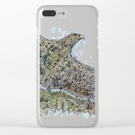 Gold eagle and Astana Clear iPhone Case