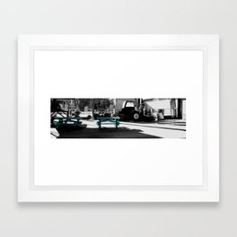 blue picnic  Framed Art Print