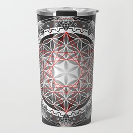 Flower of Life + Metatrons Cube Travel Mug