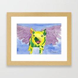 Ozzy the Pigasus Framed Art Print