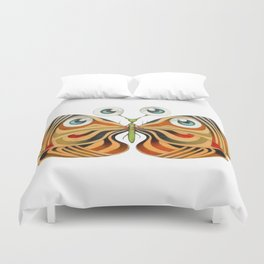 four eyes butterfly (ORIGINAL SOLD). Duvet Cover