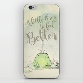 The frog under the rain 2 iPhone Skin