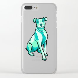 Pit Bull in Sea Foam Splash Clear iPhone Case