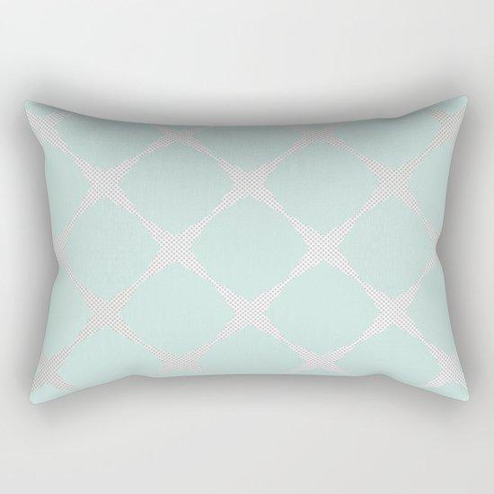 Polka Dots & Mint Tiles Rectangular Pillow