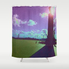 Under The Shadow - Purple Shower Curtain
