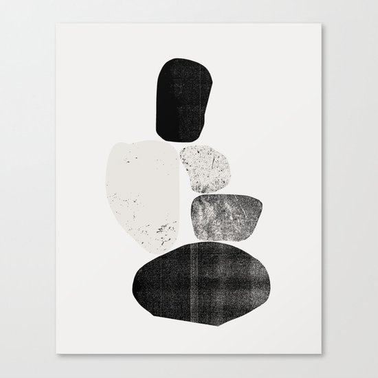 Pile of rocks Canvas Print