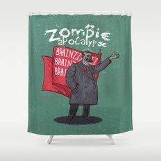 Zombie Lenin Shower Curtain