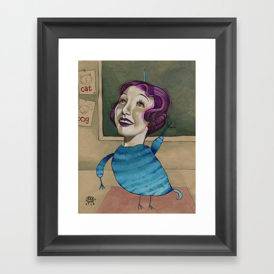 RAISE YOUR HAND Framed Art Print