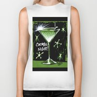 martini Biker Tanks featuring Martini  by David Miley