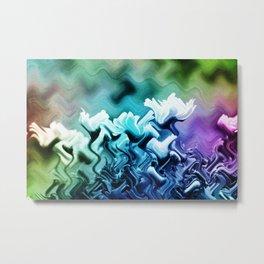 abstract Flower field Metal Print
