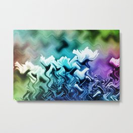 abstract Flower field Metal Print