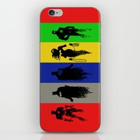 justice league iPhone & iPod Skins featuring Justice Silhouettes by iankingart