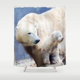 Polar Family Shower Curtain