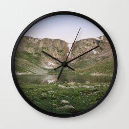 Summit Lake Wall Clock