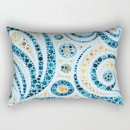 Dot Art Abstract Composition #5 Rectangular Pillow