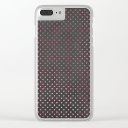 Pink Dots Clear iPhone Case