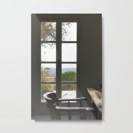 Door with a View Metal Print