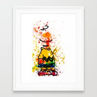 charlie brown Framed Art Prints featuring Charlie Brown by benjamin james