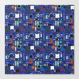 Bread Bear Machine ShanHaiJung - Blue Canvas Print
